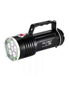 Archon Dg60 Wg66 6 * Cree Xm-L2 U2 Led Max 5000Lm 3 Modi Led-Tauchlampe + 6 * 18650 Batterie + Ladegerät