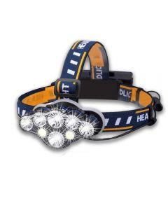 Super Helle 8 * Led Birne 5000 Lumen Wasserdichte Outdoor-Led-Scheinwerfer Mit 2 * 18650 Batterie