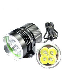 SKY RAY 4T6 Bicycle Light   4800-Lumen 4xCree XM-L T6 LED 3-Mode Bike Front Light Set