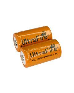 Ultrafire Xsl 18350 1200Mah 3.7V Li-Ion-Batterie (Ein Paar)