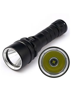 Schwarz Ohne Logo Wasserdichte Led-Fackel / 1 * Cree Xm-L2 Max 1770 Lumen 2-Modes Dimmen-Led-Tauchlampe (1 * 18650 Batterie)