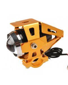 Ip68 Moto-Transformatoren 3000-Lumen Cree Xm-L U5 Led-Motorrad-Licht-Nebel-Licht-Fleck-Licht (3 Modi, Dc12 ~ 80V, Gloden-Gehäusekörper)