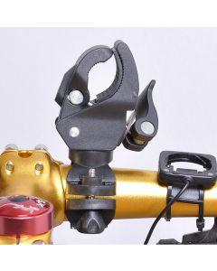Neueste Omnipotent Kunststoff Fahrrad Led-Taschenlampe Fackelhalterung Halterung Frontlicht Lampe Clip Für Fahrrad Radfahren