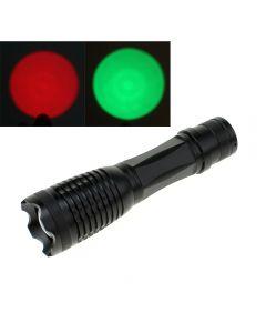 Oem E5 Taschenlampe Rot / Grün Licht Cree Xpe Zoombare Taktische Led-Laterne Fackel Für Jagdfischen Im Freien