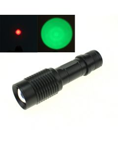 Oem E17 Fackel Cree Xpe Zoomable Rotes Licht / Grüne Licht-Led-Taschenlampe
