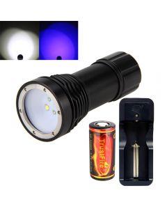 D32Vb Tauchen Taschenlampe 2 * Cree Xm-L2 Weißes Licht Und 2 * Blaue Licht Led Scuba Tauchen Fotografie Wasserdichte Fackel
