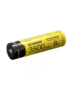 Nitecore Nl1835Hp Hohe Leistung 18650 3500Mah 3.6V 12.6Wh 8A Geschützter Li-Ion