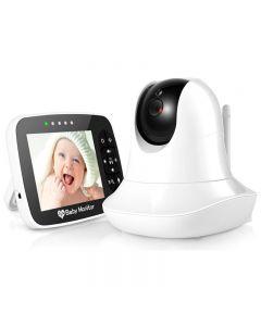 3.5 '' Hochauflösende Baby-Monitor Infrarot-Nachtsicht-Funk-Video-Baby-Schlafmonitor Mit Remote-Kamera Pan-Tilt-Zoom-Sm935