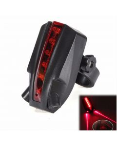"""Beam """"Bicycle Logo"""" Wasserdichtes hinteres Fahrradrücklicht 2 Laser + 5 LED rotes Licht 4 blinkendes Fahrradrücklicht"""