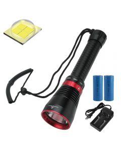 6000 Lumen XHP70.2 LED Tauchtaschenlampe Fischfischen Taschenlampe U-Boot-Licht
