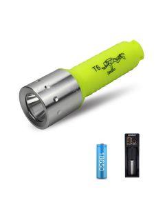 2000LM T6 LEDDiving Taschenlampe für Taucher Unterwasserblitzlicht Angetrieben von 18650 Batterie
