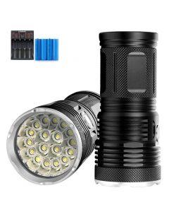 12000 Lumen 18 * T6 LED Außenleuchte wasserdichte Taschenlampe Camping Licht Laterne verwendet 18650 Batterie