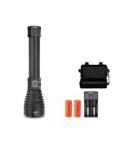 P90 LED-Taschenlampe für starkes Licht USB-Ladeleistungsanzeige Teleskopzoom-Taschenlampe für den Außenbereich