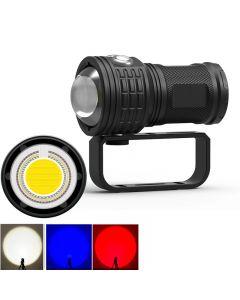 Tauchen Taschenlampe 11000 Lumen LED COB Long Shot Unterwasser Wasserdichte Fotografie Video Taschenlampe