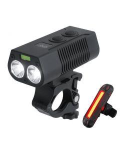 2 * T6LED USB wiederaufladbares Fahrradlicht MTB Fahrrad vorne und hinten Rücklicht Sicherheitswarnleuchte