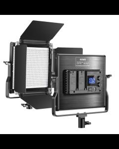 Neewer Upgraded 660 LED-Videoleuchte Dimmbares zweifarbiges LED-Panel mit LCD-Bildschirm für Videoaufnahmen Fotografie