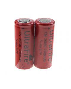 Ultrafire Cn 26650 3.7V 7200Mah Ungeschützte Li-Ion-Batterie-2-Packung